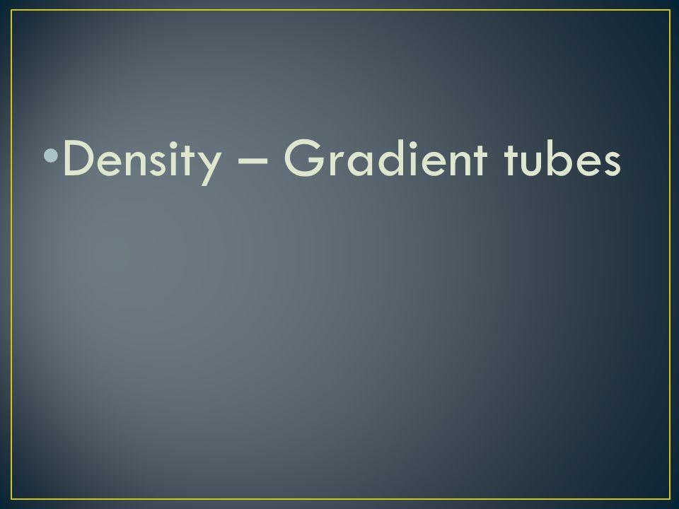 Density – Gradient tubes