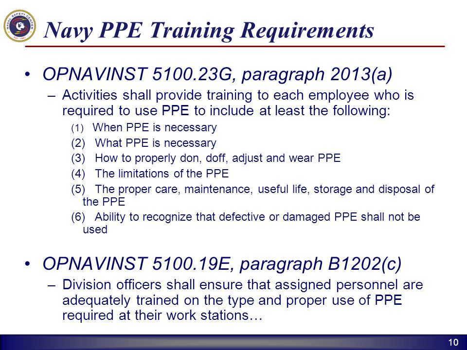 Navy PPE Training Requirements
