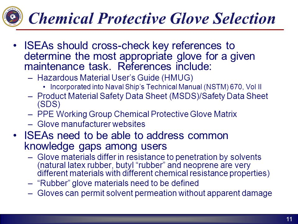 Chemical Protective Glove Selection