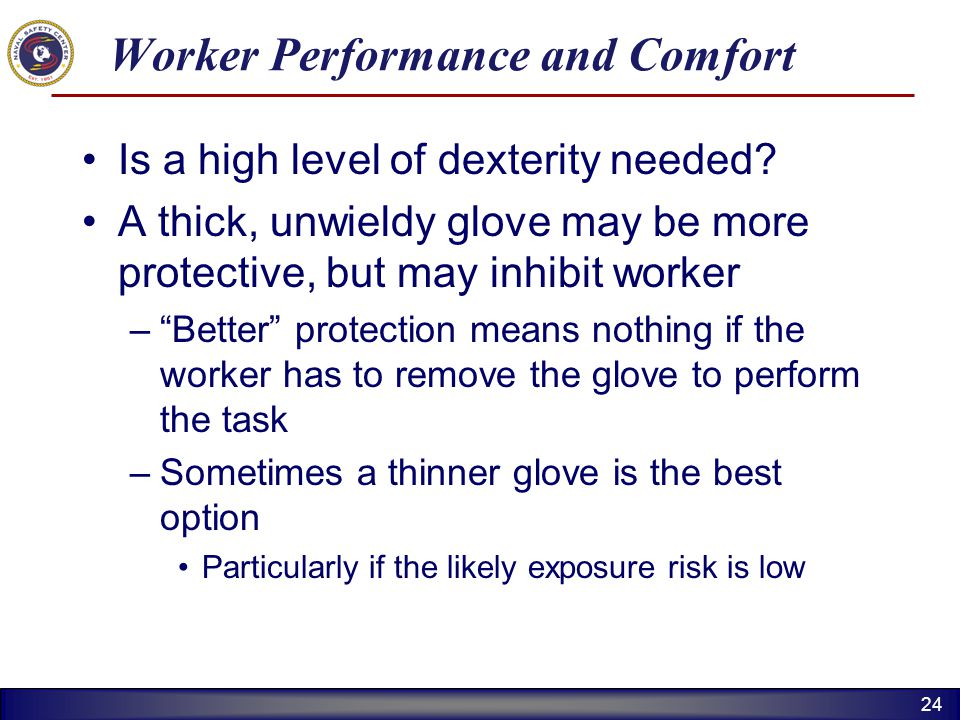 Worker Performance and Comfort
