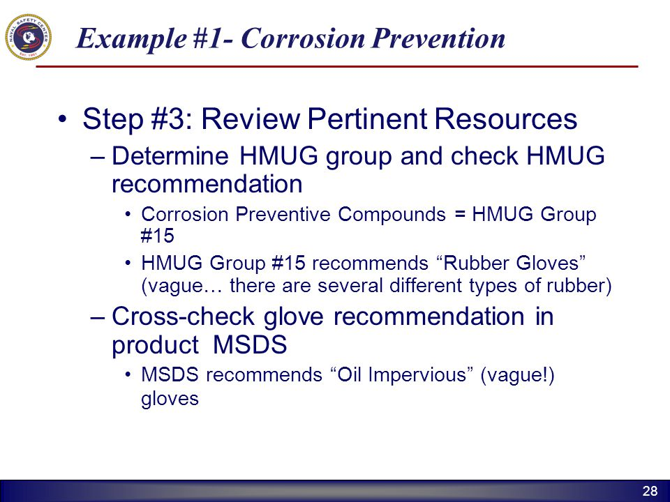 Example #1- Corrosion Prevention