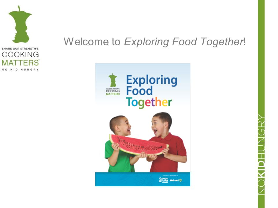 Welcome to Exploring Food Together!