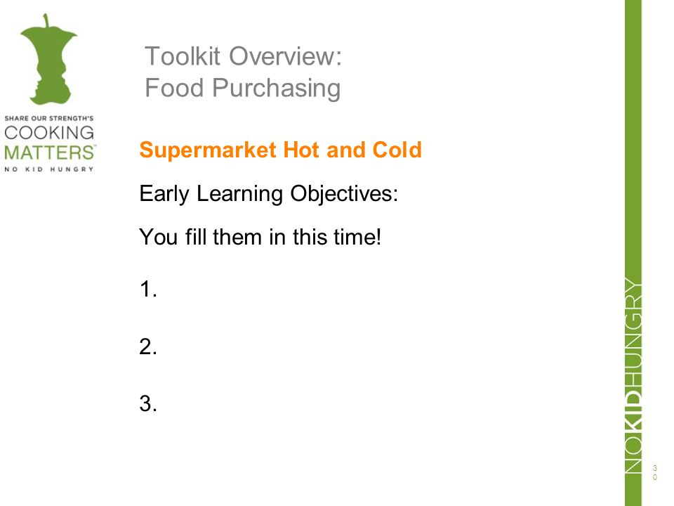 Toolkit Overview: Food Purchasing