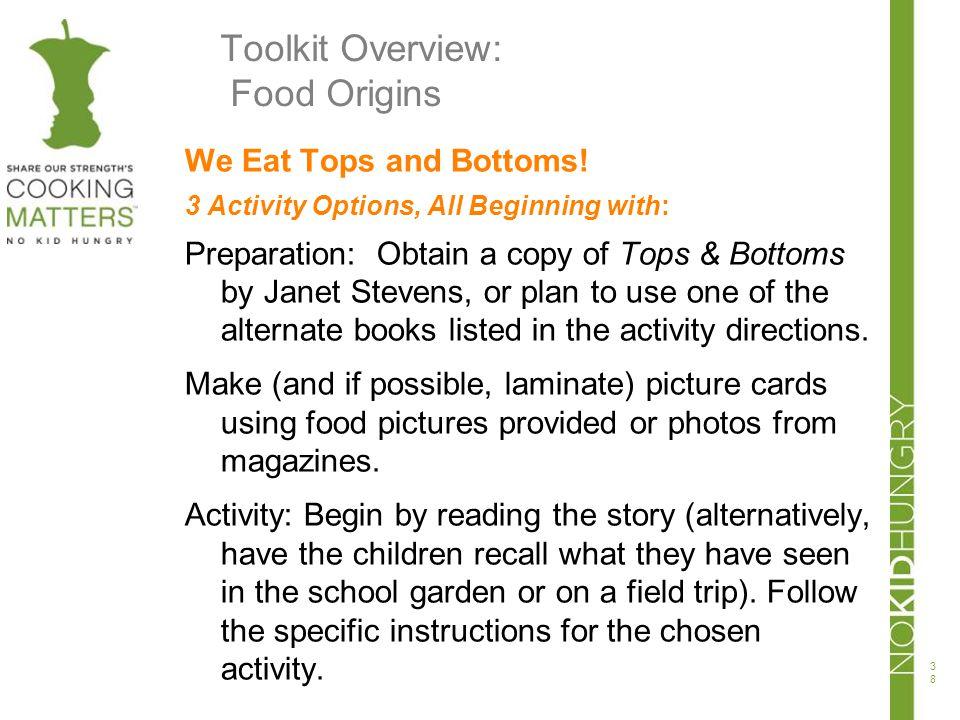 Toolkit Overview: Food Origins