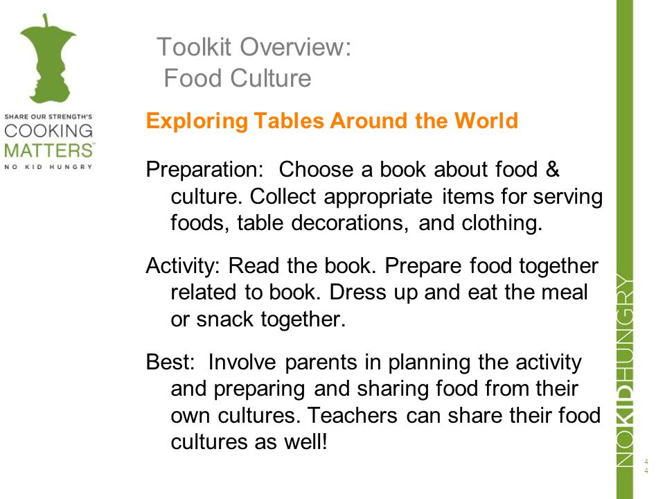 Toolkit Overview: Food Culture
