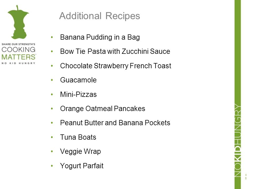 Additional Recipes Banana Pudding in a Bag