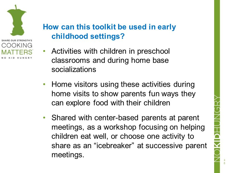 How can this toolkit be used in early childhood settings