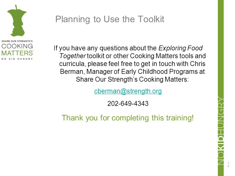 Planning to Use the Toolkit