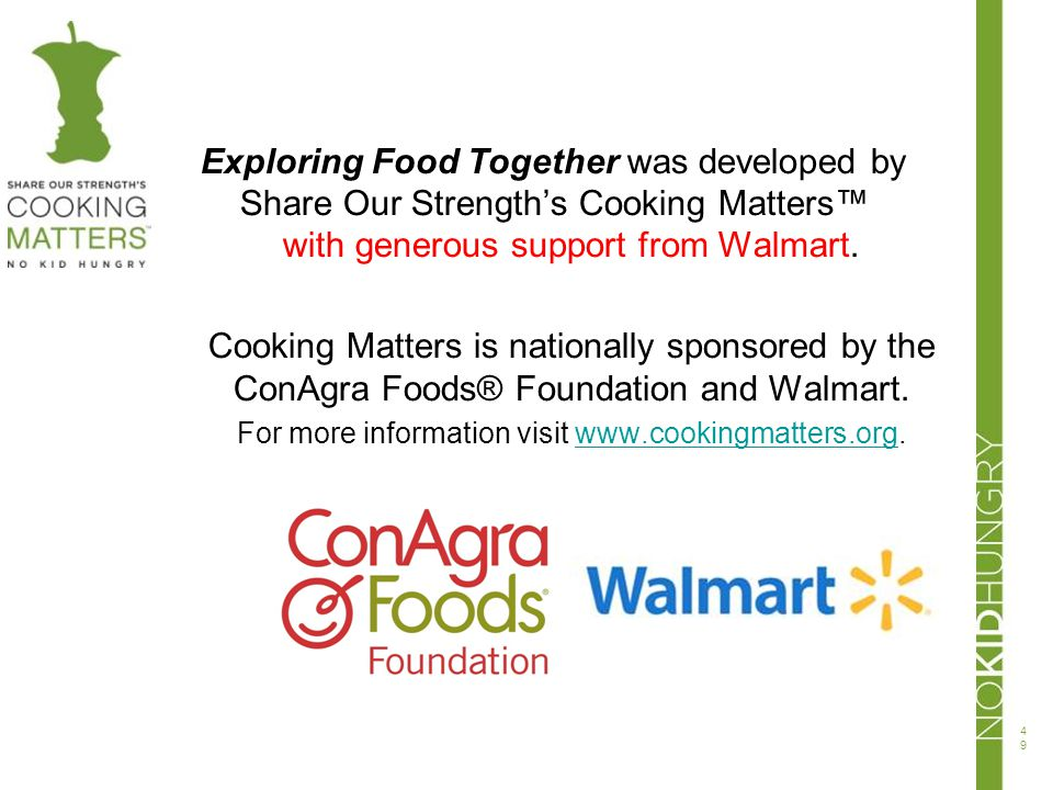 with generous support from Walmart.