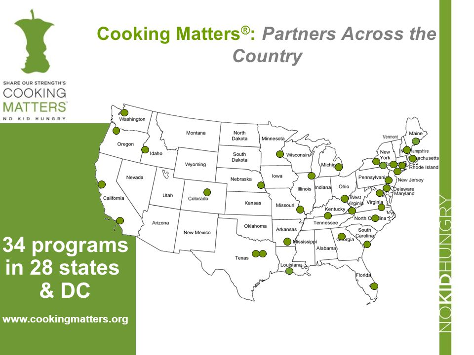 Cooking Matters®: Partners Across the Country