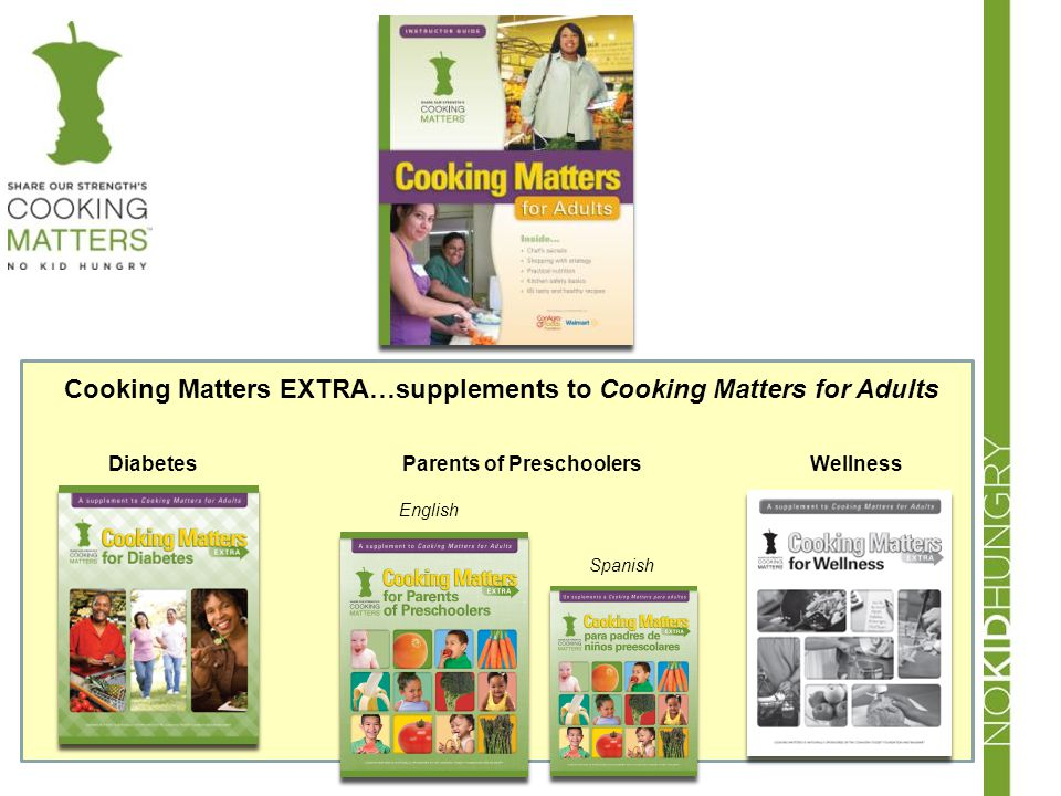 Cooking Matters EXTRA…supplements to Cooking Matters for Adults