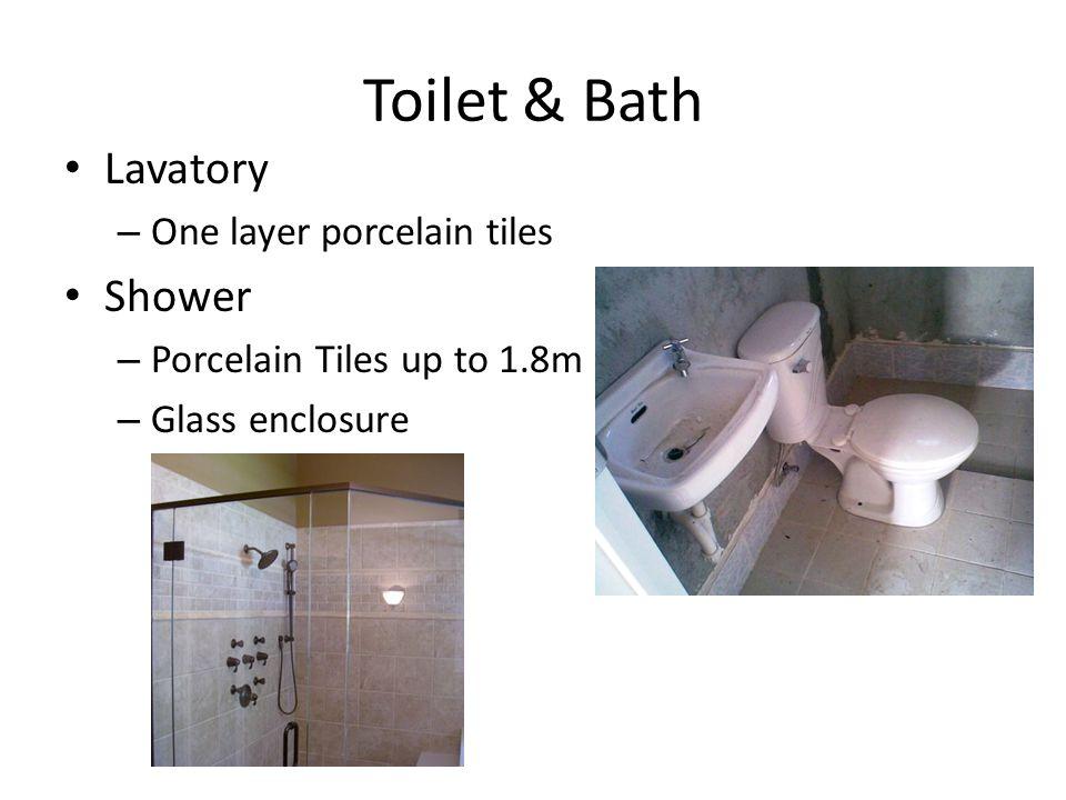 Toilet & Bath Lavatory Shower One layer porcelain tiles