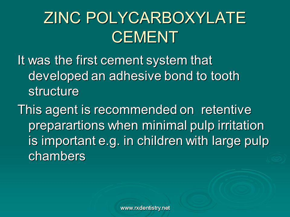 ZINC POLYCARBOXYLATE CEMENT