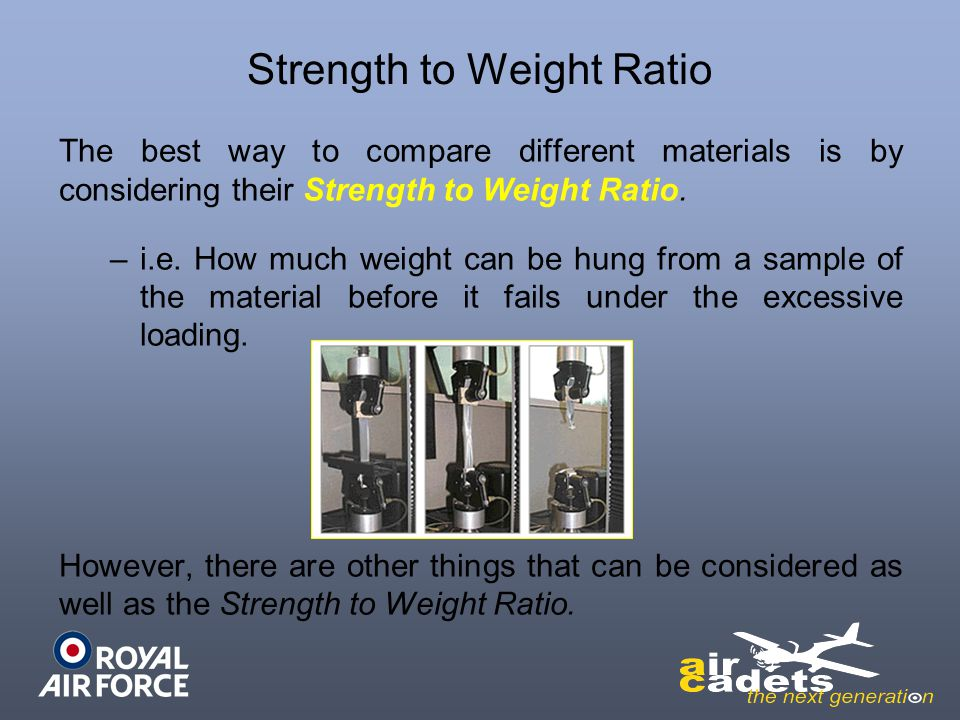 Strength to Weight Ratio