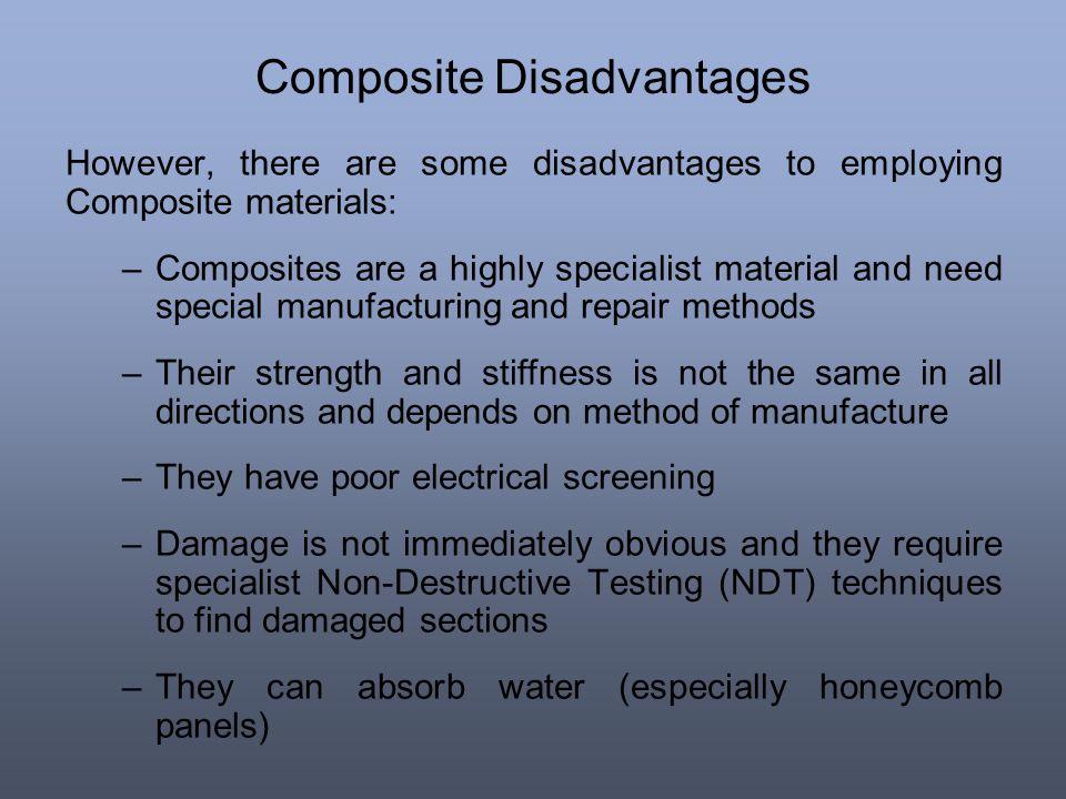 Composite Disadvantages