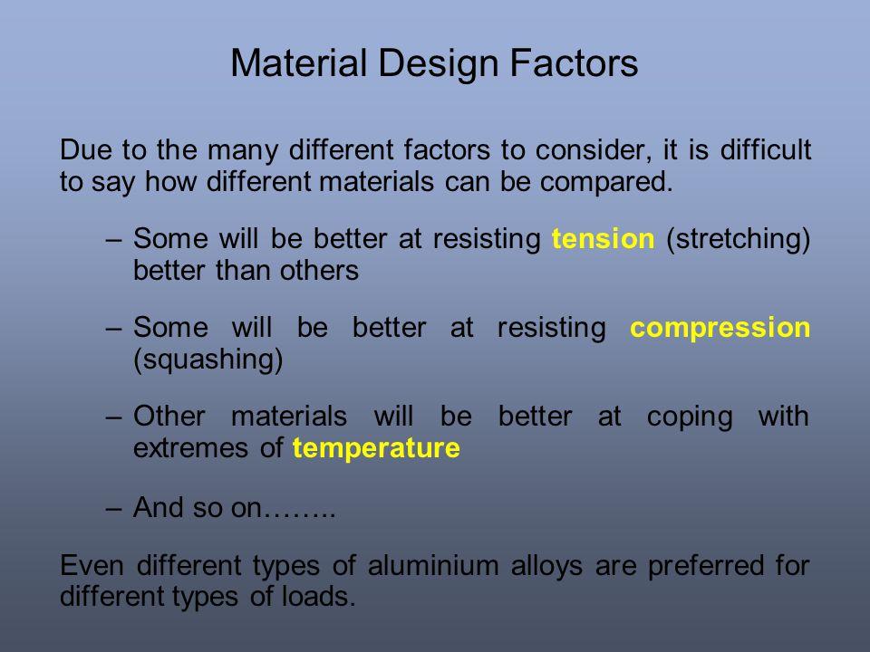 Material Design Factors