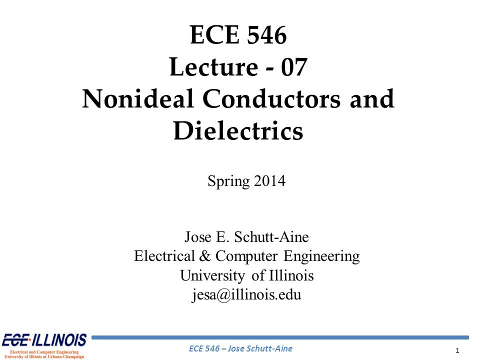 Nonideal Conductors and Dielectrics