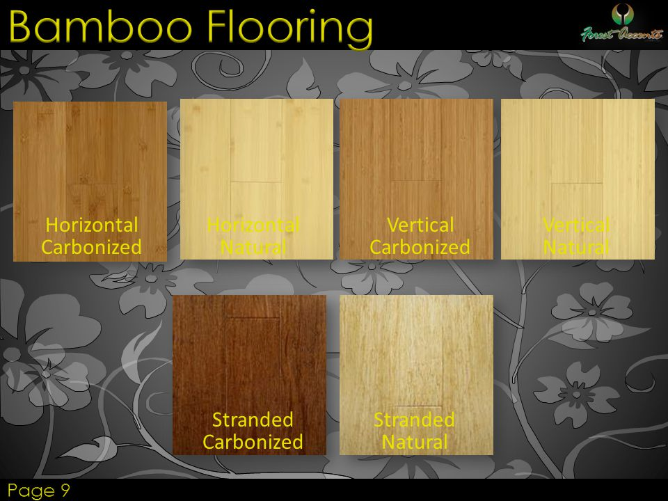 Bamboo Flooring Horizontal Carbonized Horizontal Natural Vertical