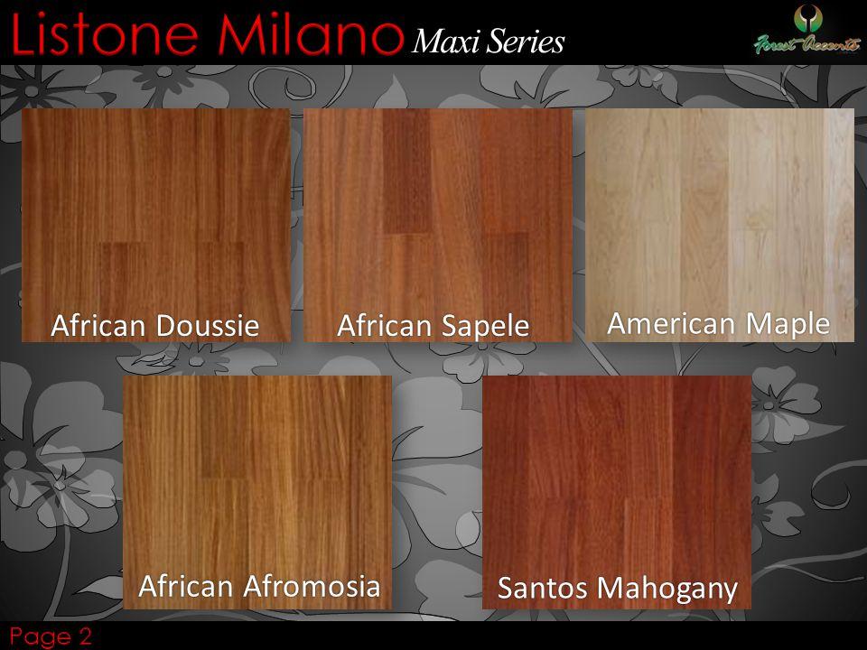 Listone Milano Maxi Series American Maple African Sapele