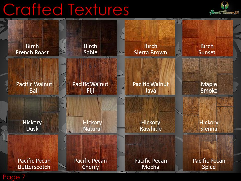 Crafted Textures Page 7 Birch French Roast Birch Sable Birch