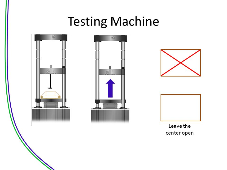 Testing Machine Leave the center open