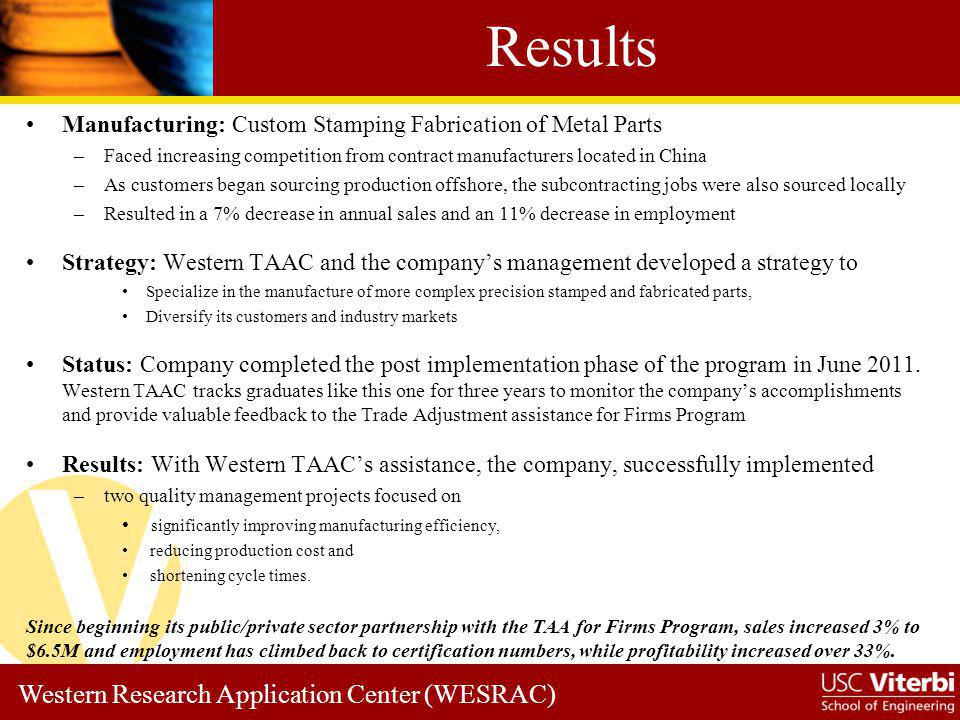 Results Manufacturing: Custom Stamping Fabrication of Metal Parts