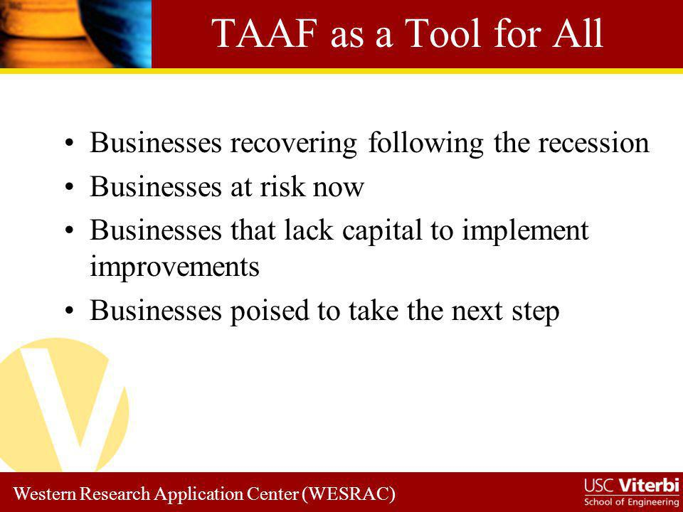 TAAF as a Tool for All Businesses recovering following the recession