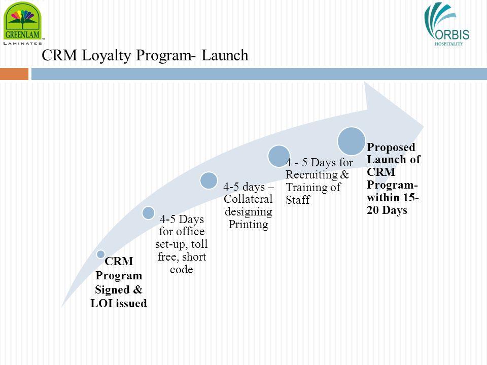 CRM Loyalty Program- Launch