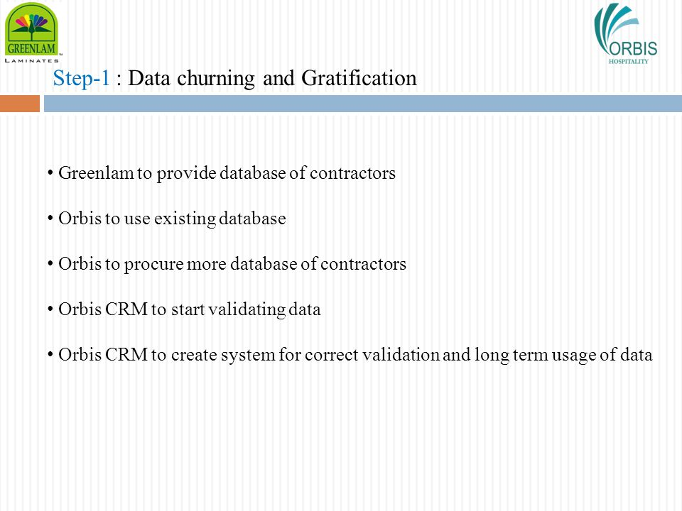 Step-1 : Data churning and Gratification