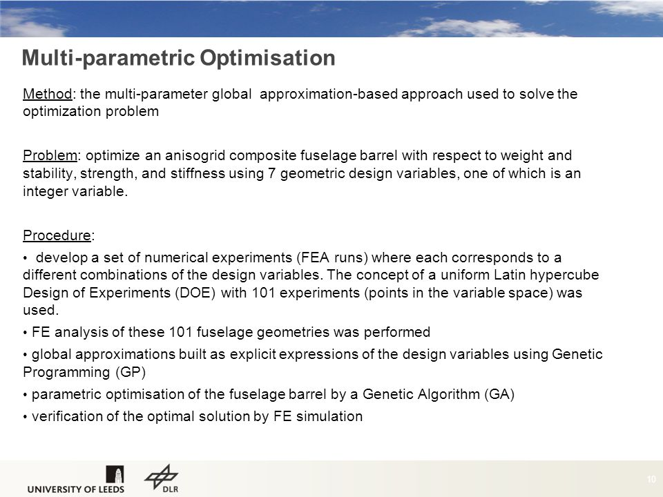 Multi-parametric Optimisation