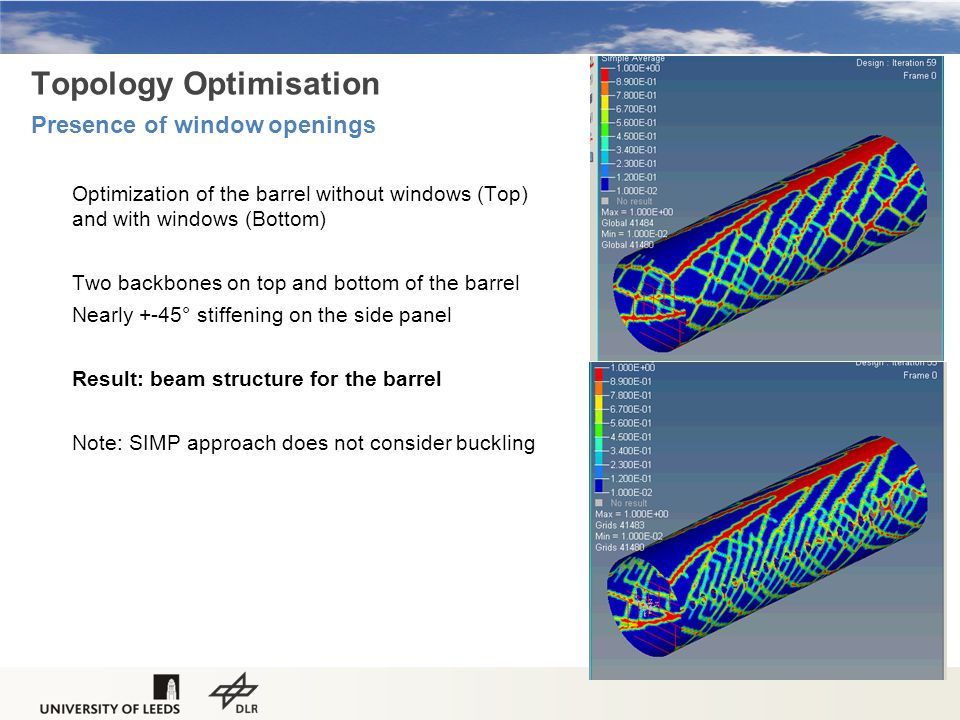 Topology Optimisation Presence of window openings