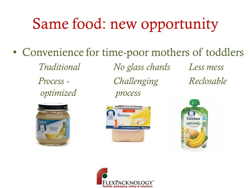 Same food: new opportunity