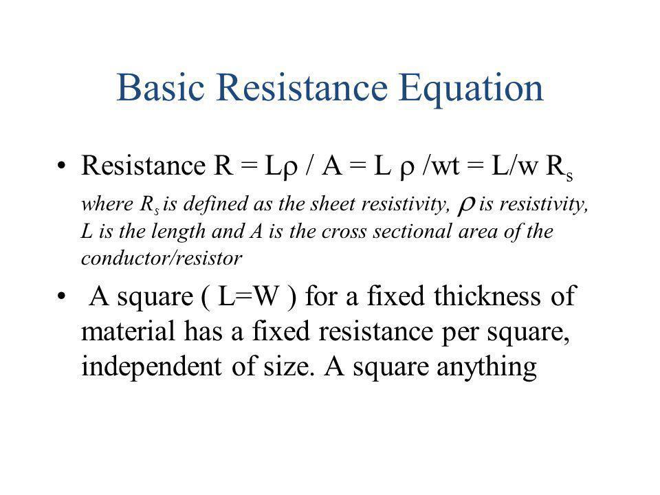 Basic Resistance Equation