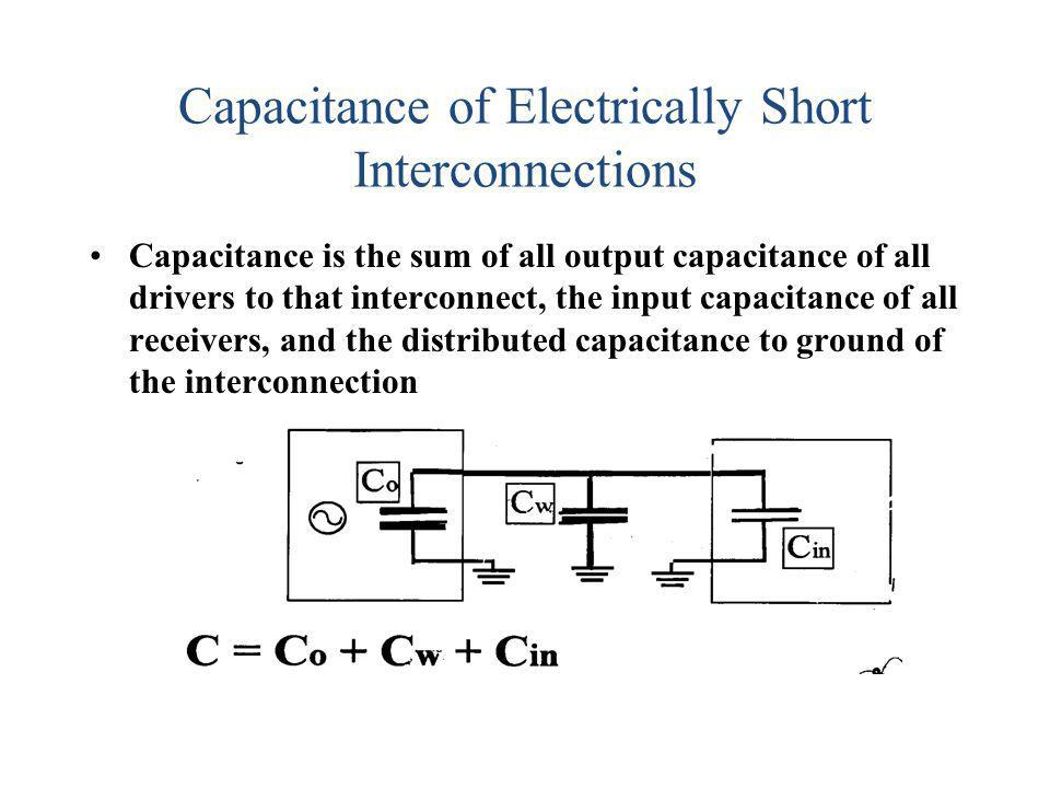 Capacitance of Electrically Short Interconnections