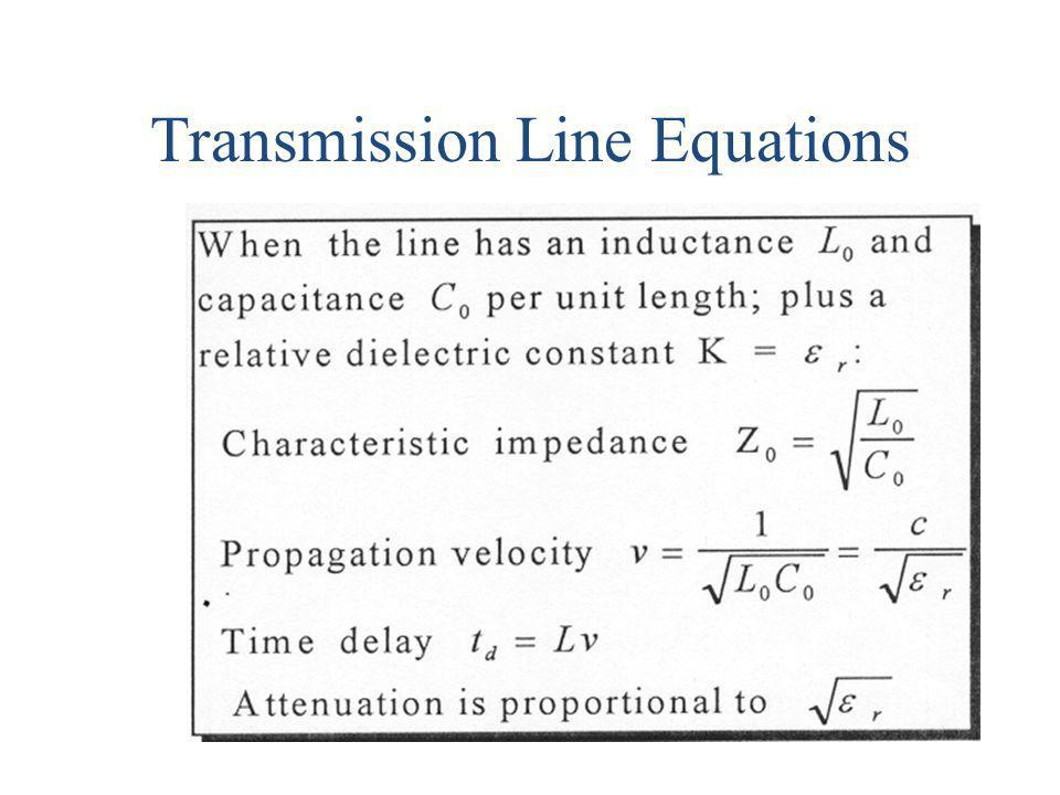 Transmission Line Equations