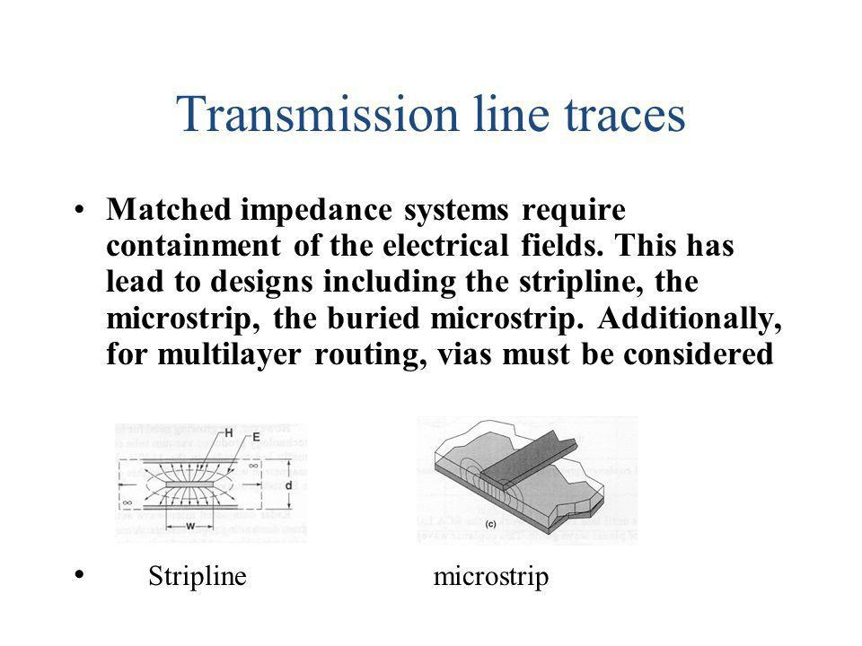 Transmission line traces