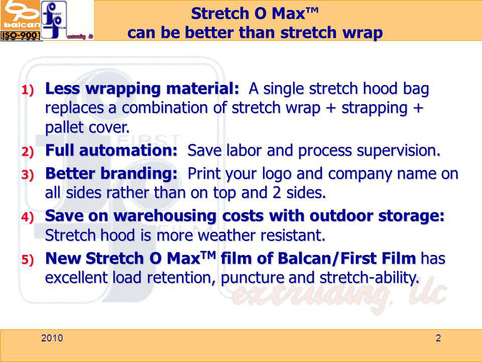 can be better than stretch wrap