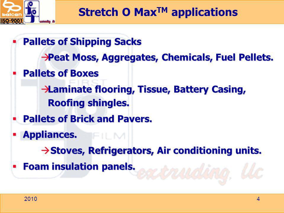 Stretch O MaxTM applications