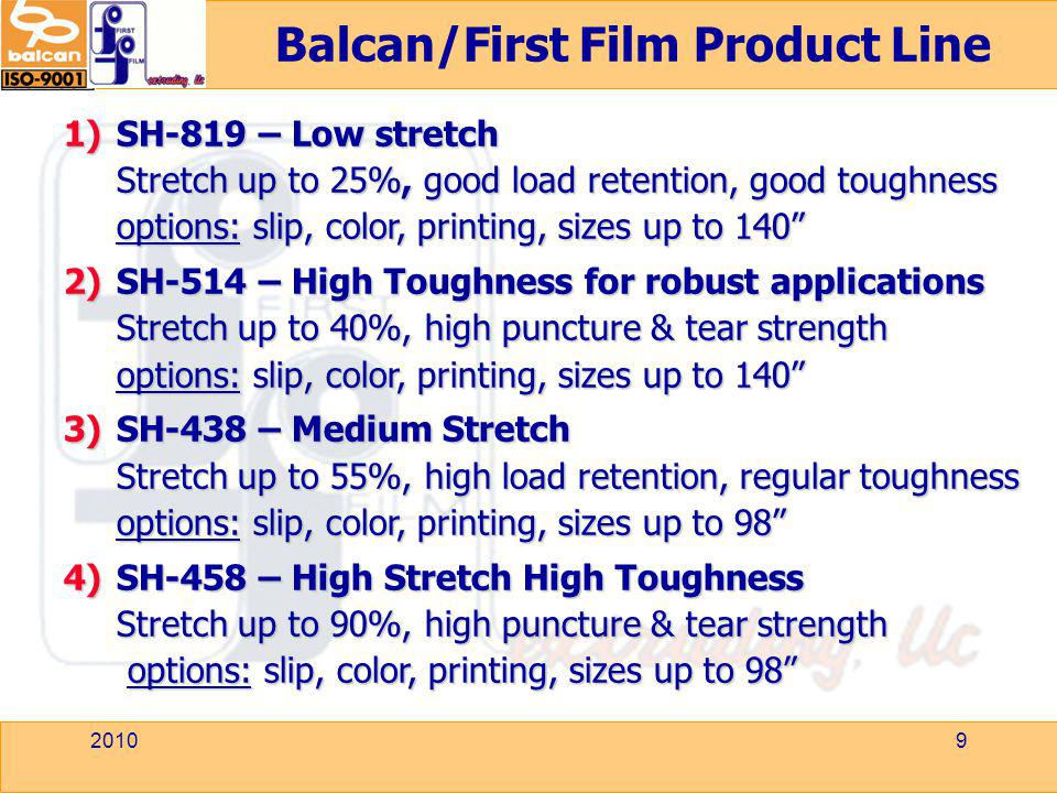 Balcan/First Film Product Line