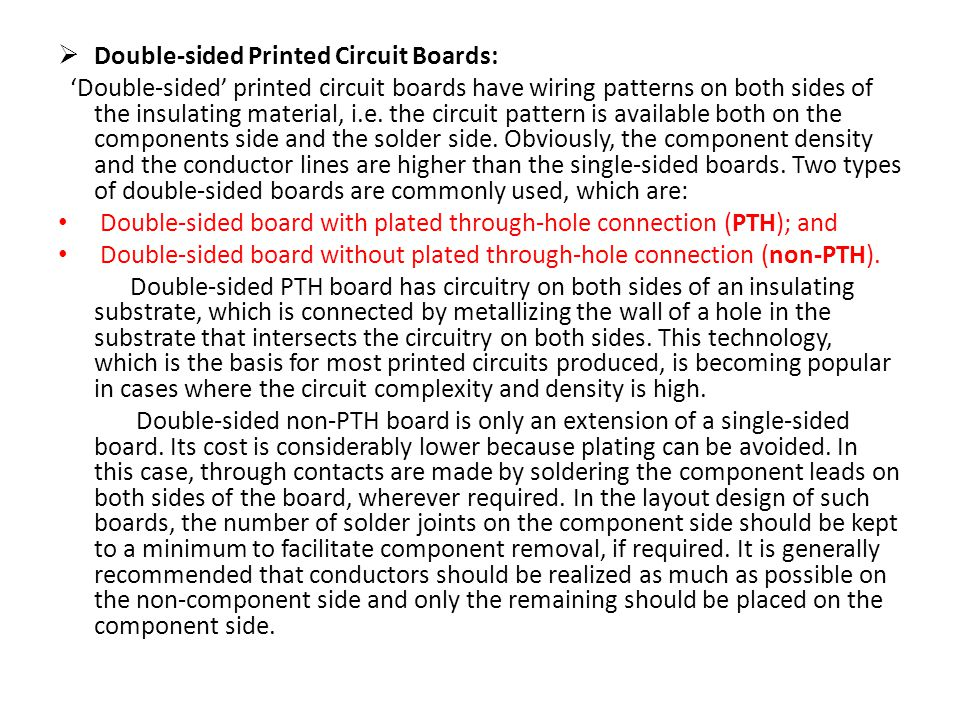 Double-sided Printed Circuit Boards: