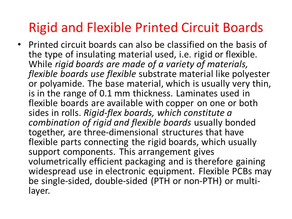 Rigid and Flexible Printed Circuit Boards