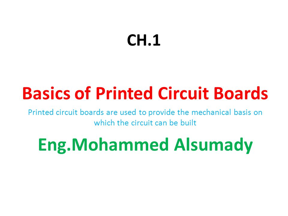 Basics of Printed Circuit Boards