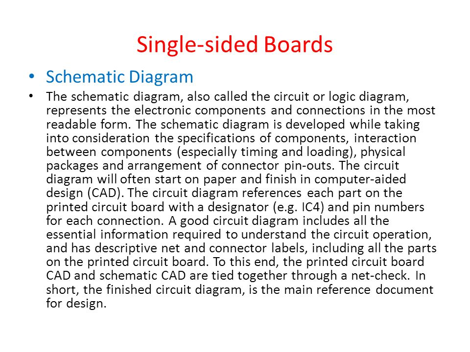 Single-sided Boards Schematic Diagram