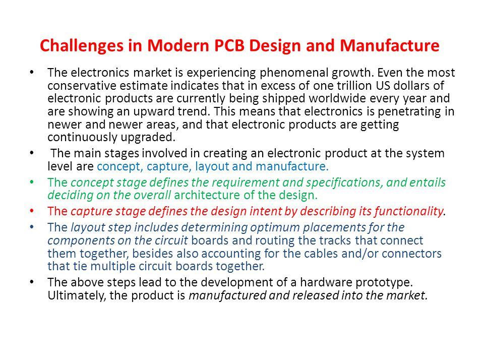 Challenges in Modern PCB Design and Manufacture