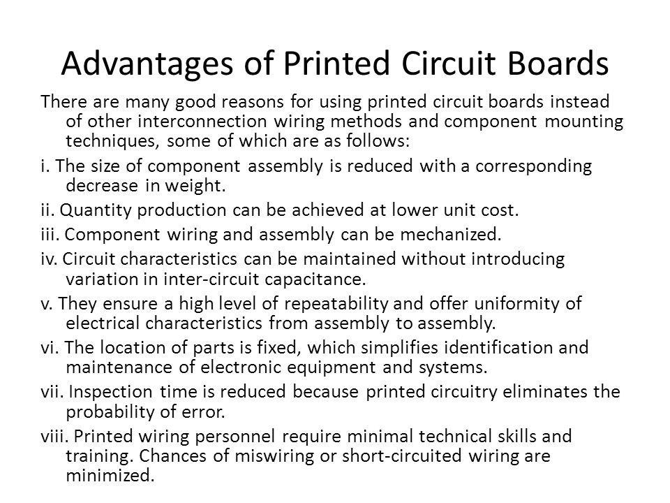 Advantages of Printed Circuit Boards
