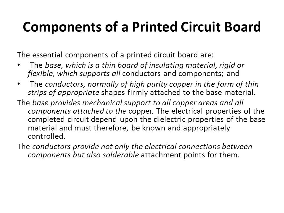 Components of a Printed Circuit Board