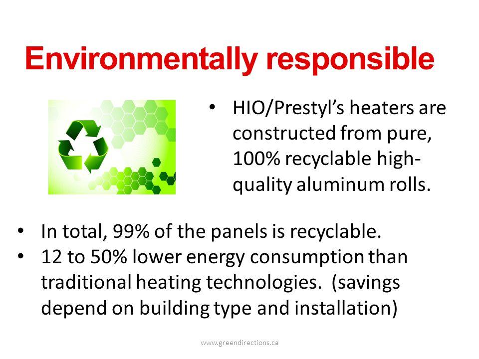 Environmentally responsible