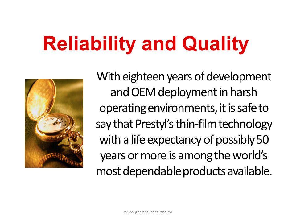 Reliability and Quality