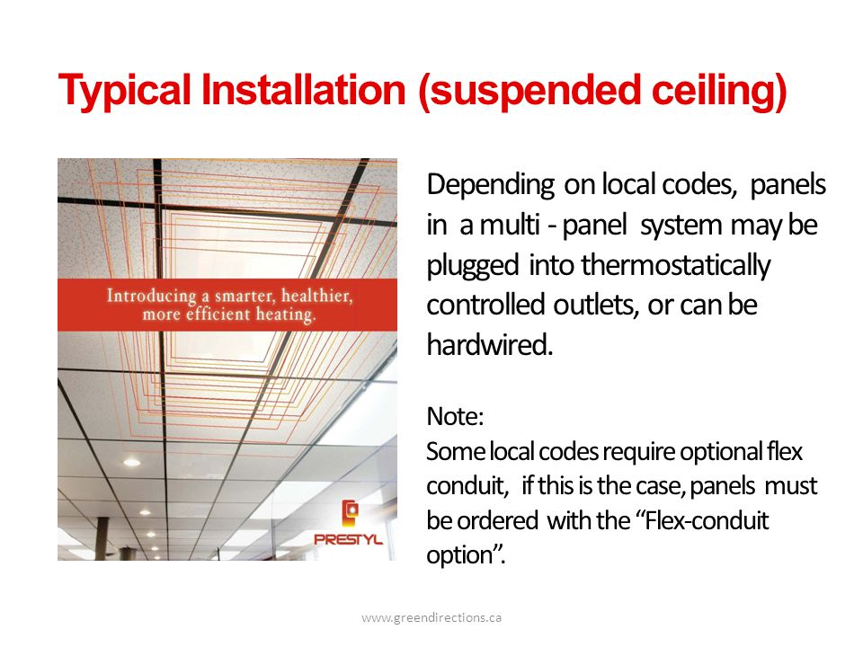 Typical Installation (suspended ceiling)