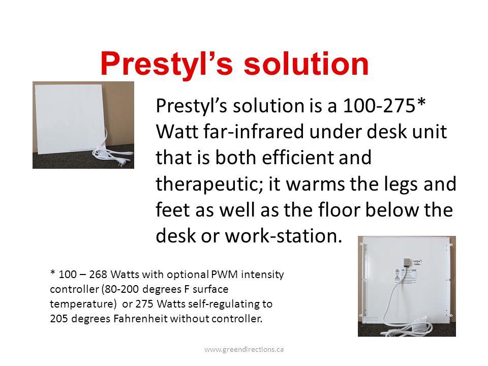 Prestyl's solution